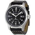 Hamilton Men's 'Khaki Field Automatic' Black Dial Watch