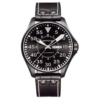 Hamilton Men's 'Khaki Pilot' Aviator Black Dial Watch