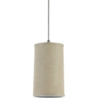 Sea Gull Lighting 1-Light Burlap Finish Mini Pendant