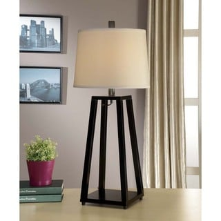 Artiva USA Elliot 1-light Java Black Wood Table Lamp