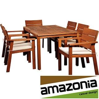 Albany 7-piece Eucalyptus Wood Patio Dining Set