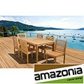'Amelia' Eucalyptus Wood 7-piece Outdoor Dining Set
