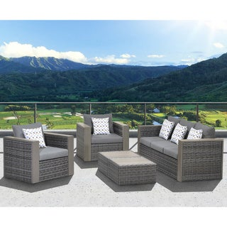 Atlantic Freeport 5-piece Patio Conversation Furniture Set