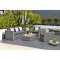 Atlantic Freeport 5-piece Patio Conversation Furniture Set