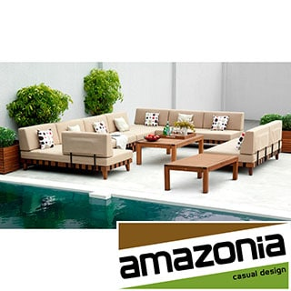 Adriatic' 7-piece Khaki Patio Sectional Set