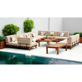 Amazonia Adriatic' 7-piece Khaki Patio Sectional Set