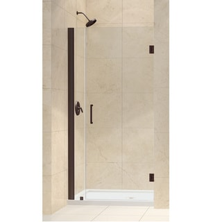DreamLine Oil Rubbed Bronze Unidoor 36-37-inch Frameless Hinged Shower Door