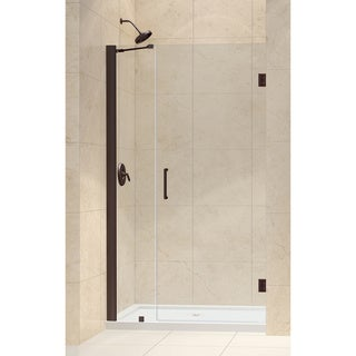 DreamLine Oil Rubbed Bronze Unidoor 42-43-inch Frameless Hinged Shower Door