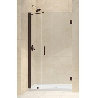 DreamLine Oil Rubbed Bronze Unidoor 40-41-inch Frameless Hinged Shower Door
