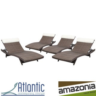 Atlantic Mykonos Dark Brown 4-piece Deluxe Lounger Set