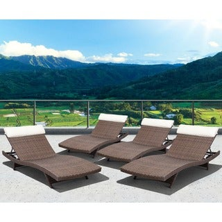 Atlantic Atlantic Mykonos Dark Brown 4-piece Deluxe Lounger Set