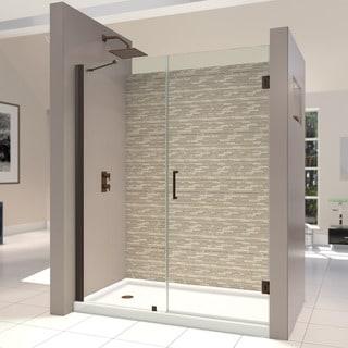 DreamLine Unidoor 53-54-inch Frameless Hinged Shower Door