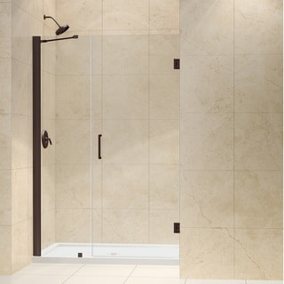 DreamLine Oil Rubbed Bronze Unidoor 44-45-inch Frameless Hinged Shower Door