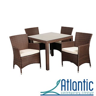 'Liberty' Brown 5-piece Square Outdoor Dining Set
