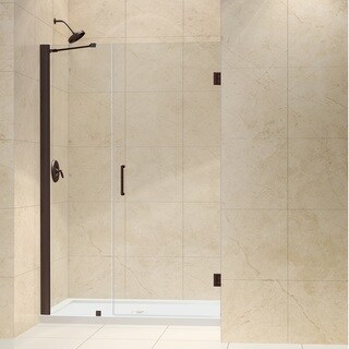 DreamLine Oil Rubbed Bronze Unidoor 47-48-inch Frameless Hinged Clear Shower Door