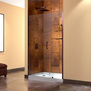 DreamLine Unidoor 42-43-inch Frameless Hinged Clear Shower Door