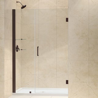 DreamLine Oil Rubbed Bronze Unidoor 46-47-inch Frameless Hinged Shower Door