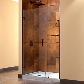 DreamLine Oil Rubbed Bronze Unidoor 47-48-inch Frameless Hinged Shower Door