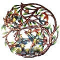 Handmade Painted 24-inch Tree of Life Metal Wall Art (Haiti)