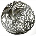 Handmade Single Crane Metal Art- 24 inches  , Handmade in Haiti