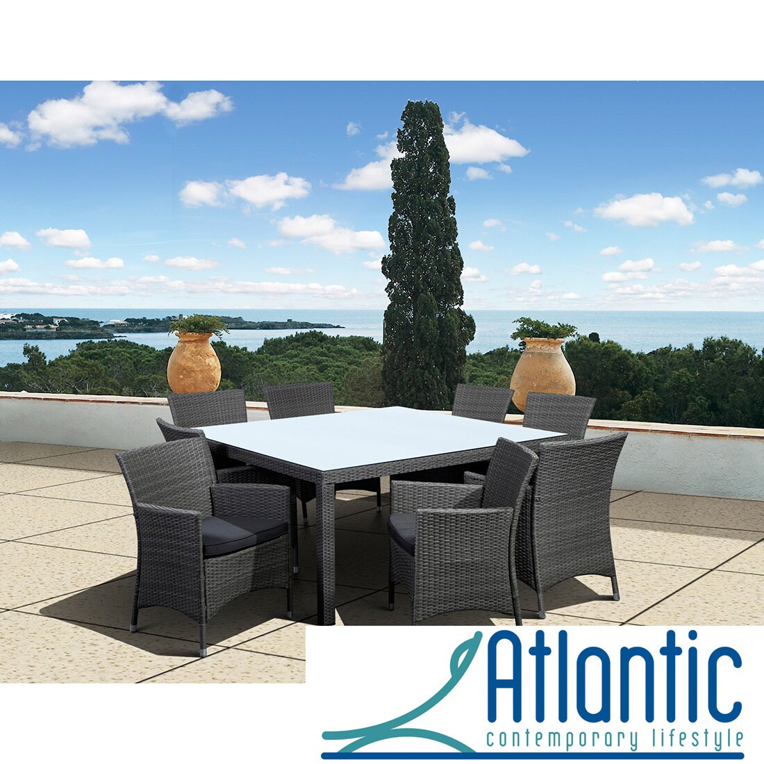 Atlantic Grand Liberty Deluxe 9 Piece Square Dining Set at Sears.com