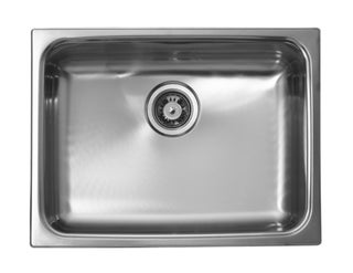 Ukinox Large Single Bowl Dual Mount Stainless Sink