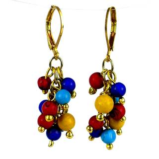 Handmade Tribal Cluster Earrings (India)