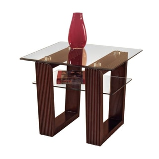 'Cordoba' Modern Glass-top Rectangular End Table