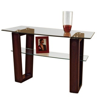 Cordoba Sofa Table with Glass Top