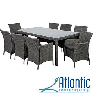 Grand Liberty Deluxe 9 Piece Grey Rectangular Dining Set