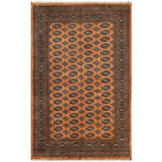 Pakistani Hand-knotted Bokhara Peach/ Ivory Wool Rug (5'1 x 7'8)