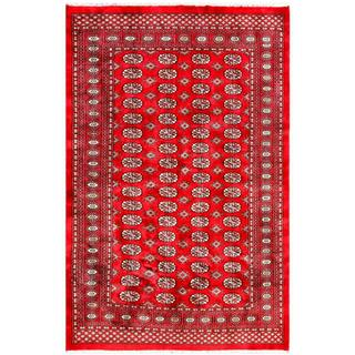 Pakistani Hand-knotted Bokhara Red/ Ivory Wool Rug (5'2 x 7'10)