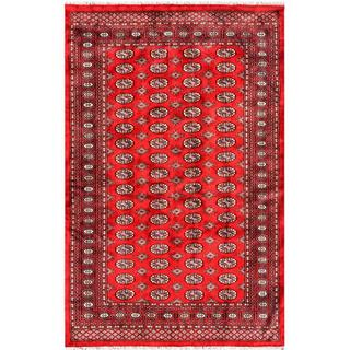 Pakistani Hand-knotted Bokhara Red/ Ivory Wool Rug (5'1 x 7'10)