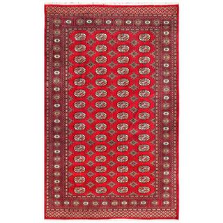 Pakistani Hand-knotted Bokhara Red/ Ivory Wool Rug (5' x 7'10)