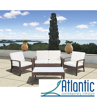 Mykonos Deluxe Brown Conversation 4 Piece Set