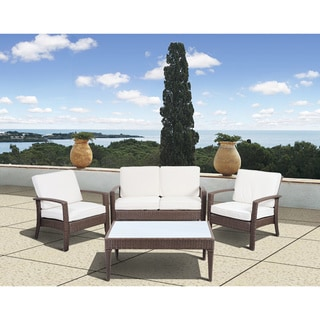 Atlantic Mykonos Deluxe Brown Conversation 4 Piece Set