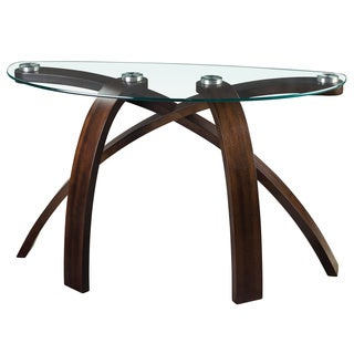 'Allure' Modern Glass-top Arch Legged Sofa Table