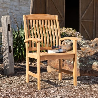 Upton Home Sullins Teak Outdoor Arm Chairs (Set of 2)