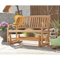 Reseda Teak Outdoor Glider Bench