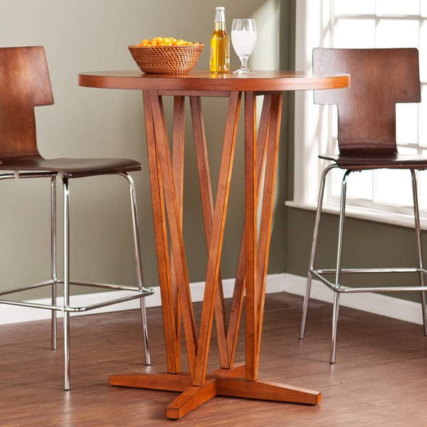 Upton Home Hubert Pecan Brown Bar Table