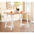 Upton Home Glenwest White and Natural Pine Dining Table