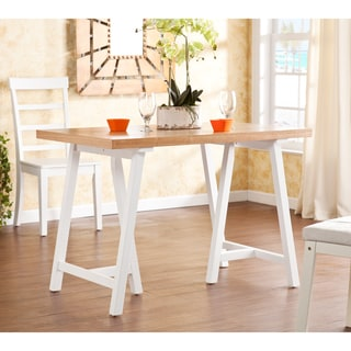 Glenwest White and Natural Pine Dining Table