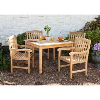 Sale Roxton Teak Outdoor Dining Table 5 Piece Set Shop9tt