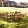 Upton Home Manorhill Teak Outdoor Dining Table 9-piece Set