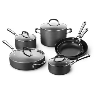 Simply Calphalon SA10H Nonstick Hard-Anodized 10-piece Cookware Set