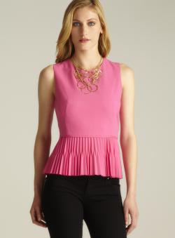 Calvin Klein Sleeveless Pleated Peplum