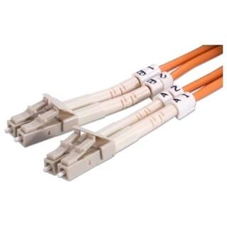 QVS 1-Meter LC to LC Multimode Fiber Duplex Patch Cord