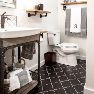 SomerTile 8x8-inch Morocco Provenzale Black Porcelain Floor and Wall Tile (Case of 16)