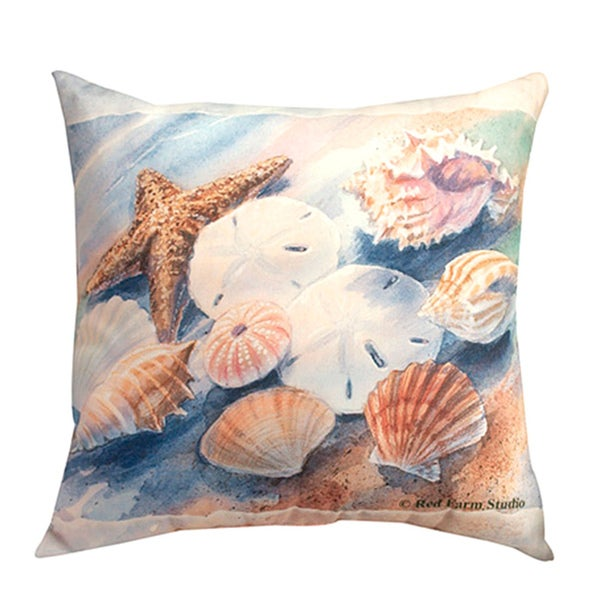Seashell Decorative Pillow 20-inch - 15392892 - Overstock.com Shopping - Great Deals on Throw ...