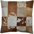 Brown Leather Hide Hair Matador Pillow 18-inch